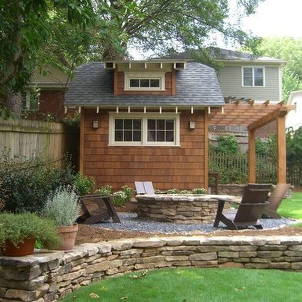 Awesome Backyard Shed Landscaping Ideas 25
