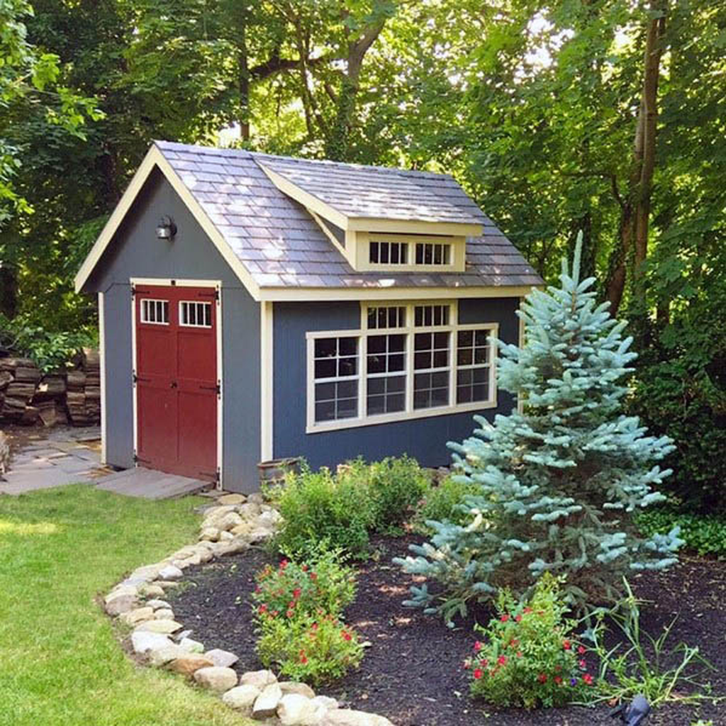 Awesome Backyard Shed Landscaping Ideas 31