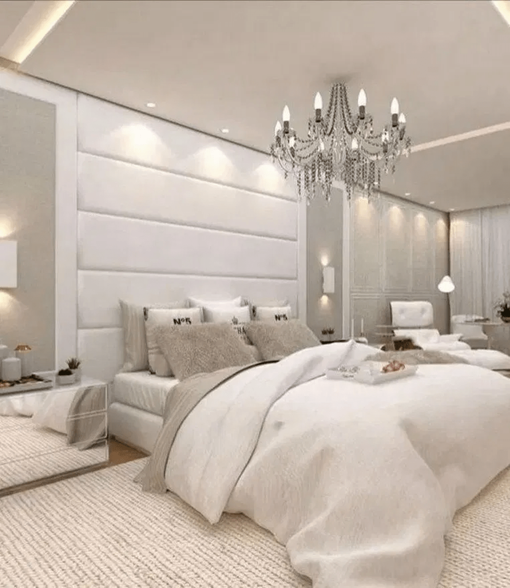 Beautiful White Master Bedroom Decorating Ideas 03