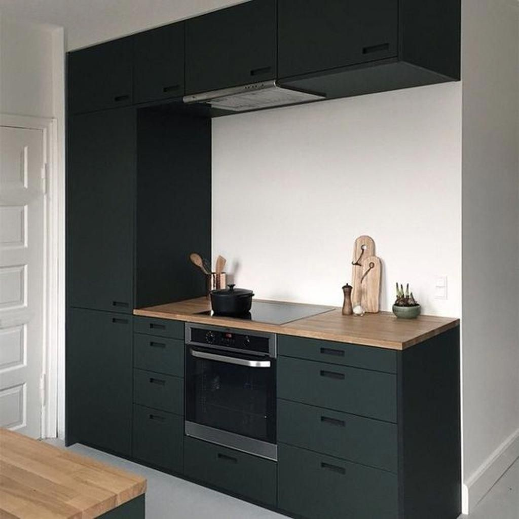 Fabulous Black And White Wood Kitchen Design Ideas 06