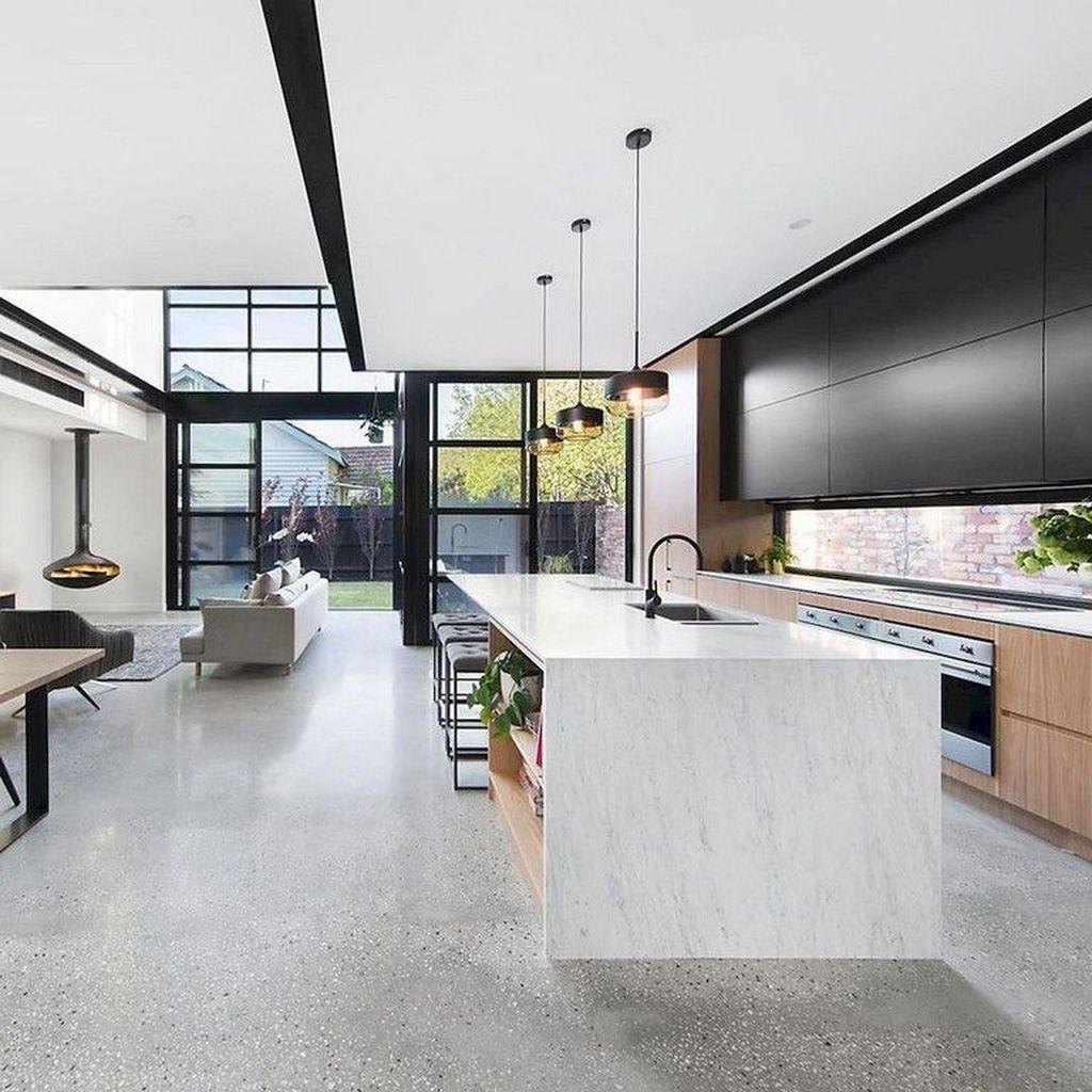 Fabulous Black And White Wood Kitchen Design Ideas 31