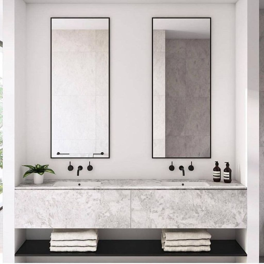 Fascinating Minimalist Bathroom Decoration Ideas 16