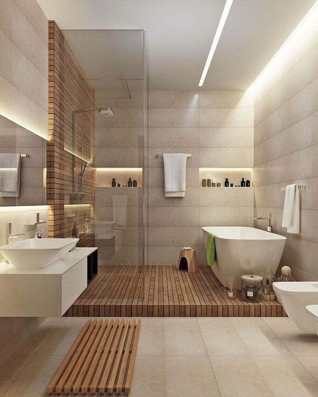 Fascinating Minimalist Bathroom Decoration Ideas 17