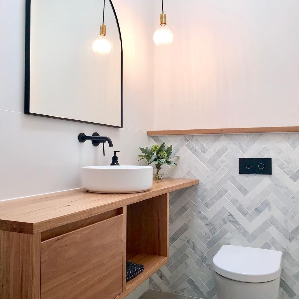Fascinating Minimalist Bathroom Decoration Ideas 18