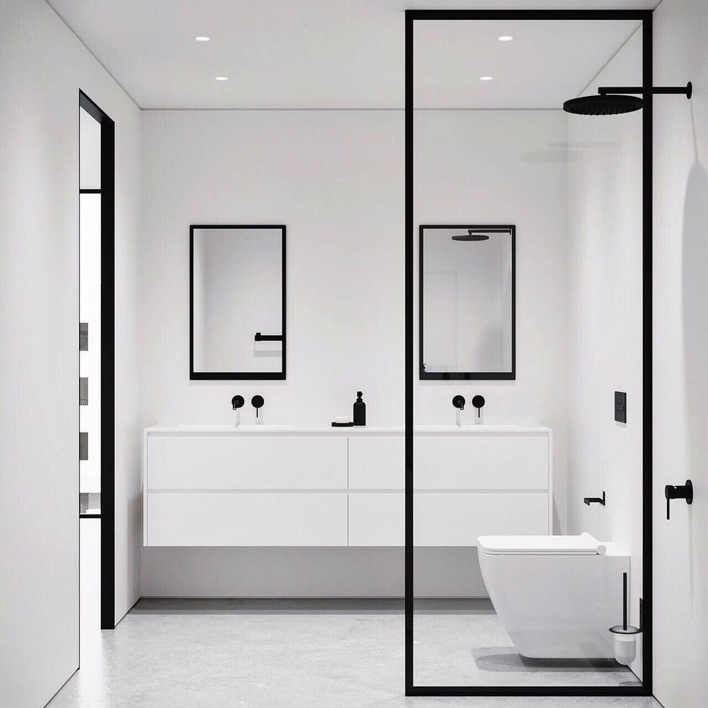 Fascinating Minimalist Bathroom Decoration Ideas 36