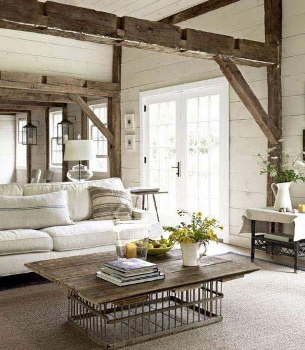 Inspiring Beachy Farmhouse Living Room Decor Ideas 01