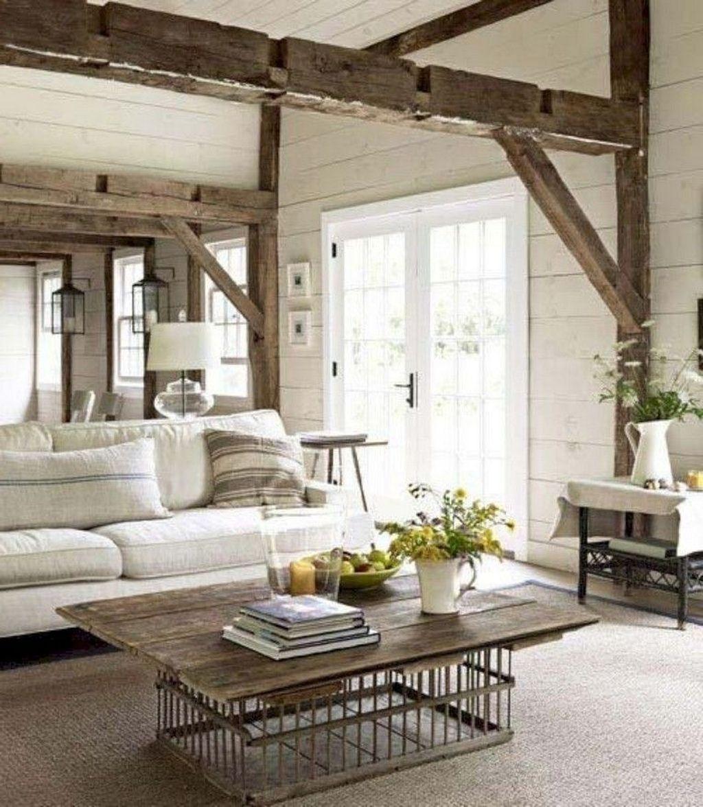 Inspiring Beachy Farmhouse Living Room Decor Ideas 01