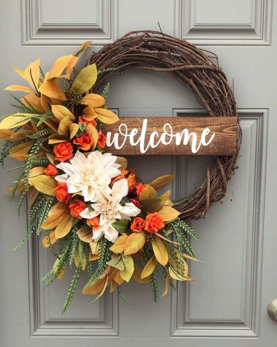 Inspiring Spring Door Wreaths For Your Home Decoration 02