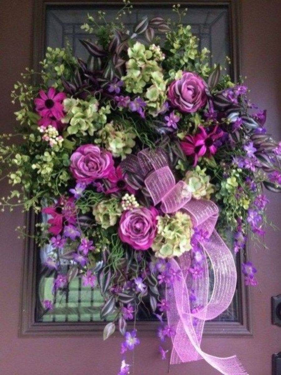Inspiring Spring Door Wreaths For Your Home Decoration 06