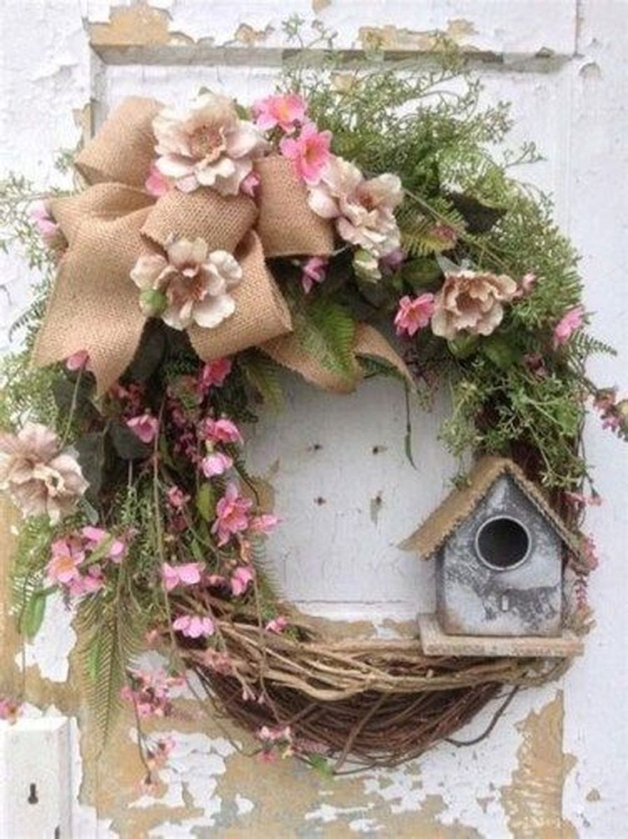 Inspiring Spring Door Wreaths For Your Home Decoration 14