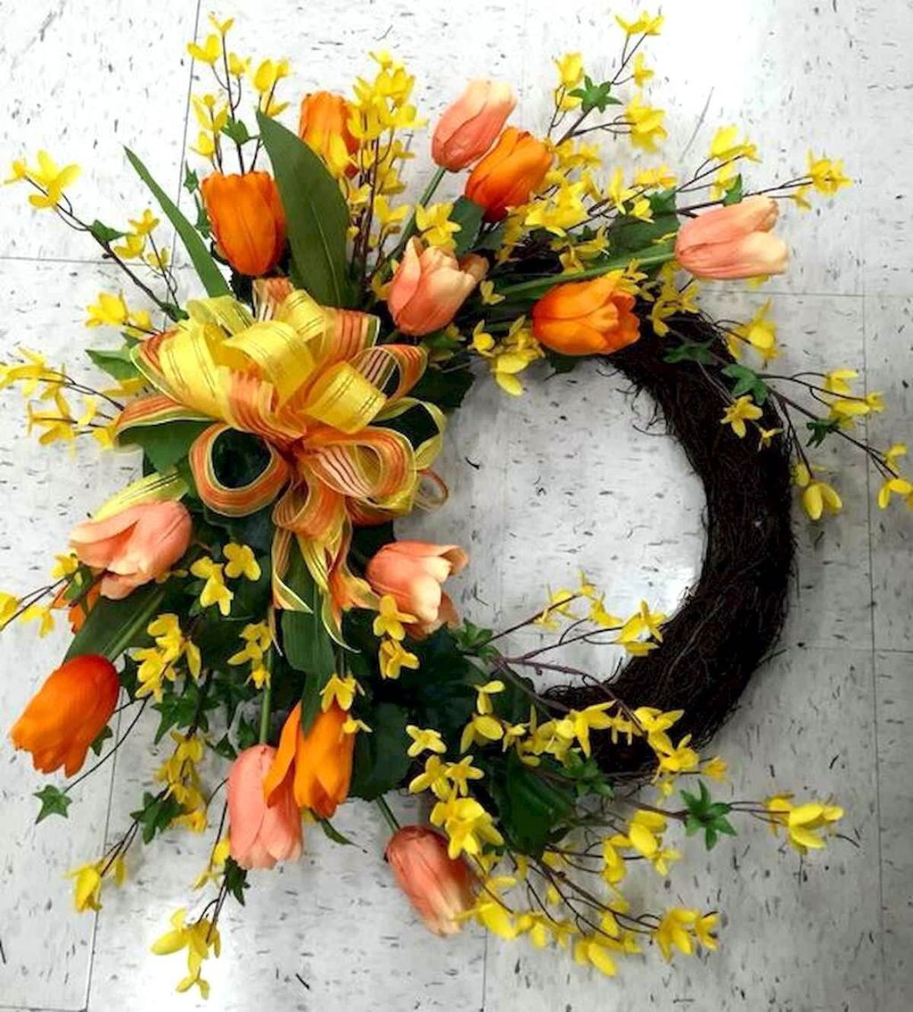 Inspiring Spring Door Wreaths For Your Home Decoration 21