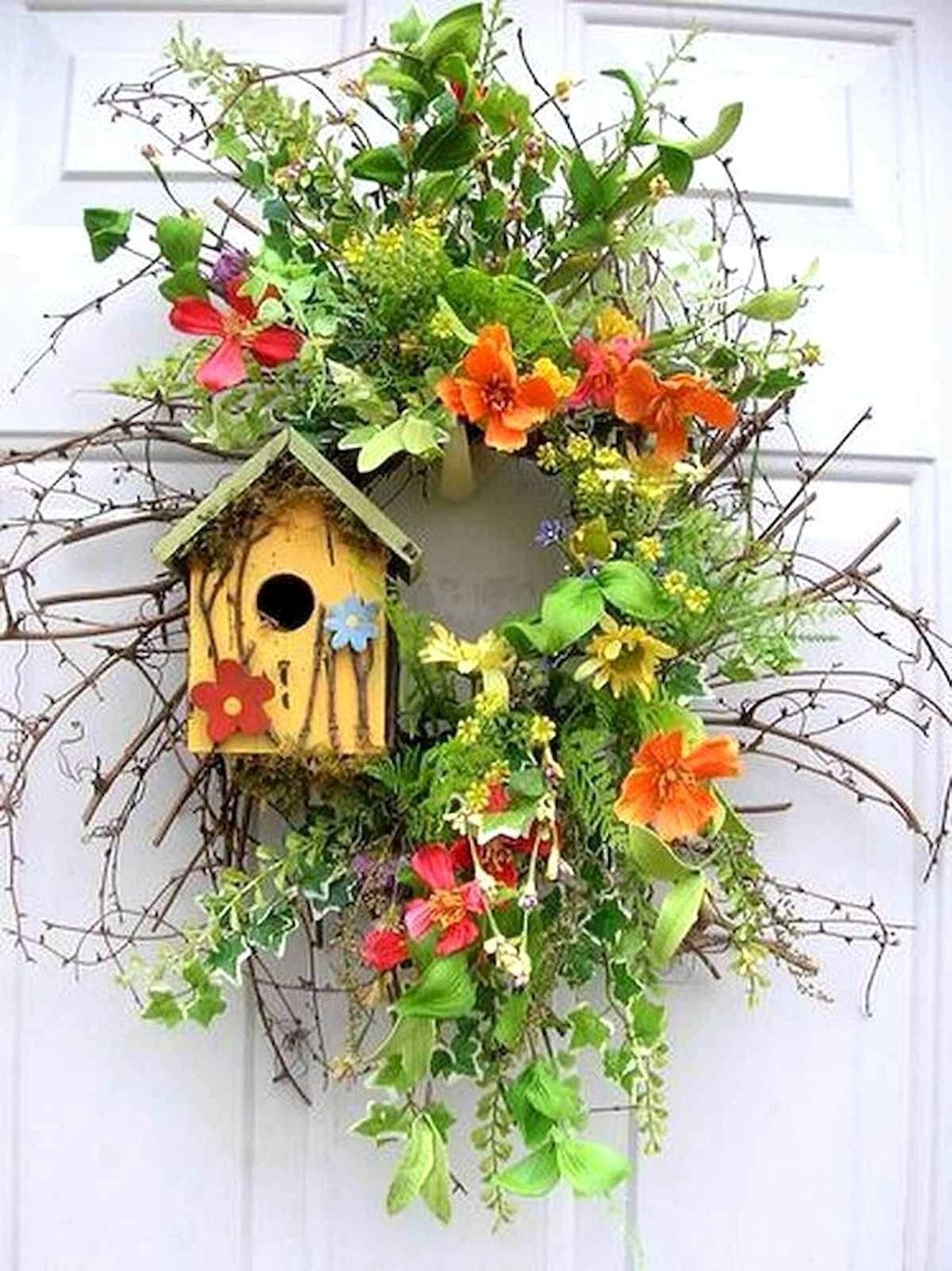 Inspiring Spring Door Wreaths For Your Home Decoration 29