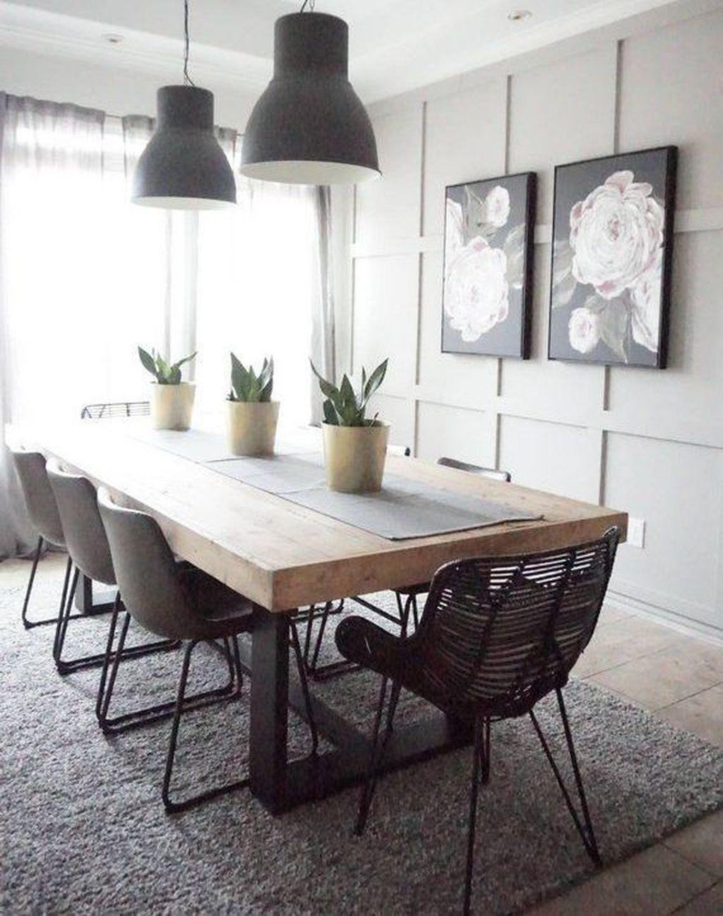 Stunning Modern Farmhouse Kitchen Table Design Ideas 04