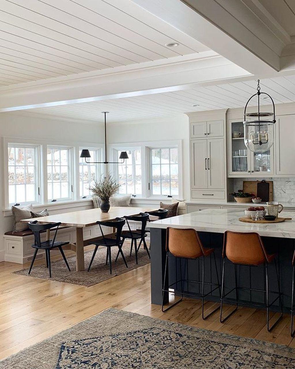 Stunning Modern Farmhouse Kitchen Table Design Ideas 08