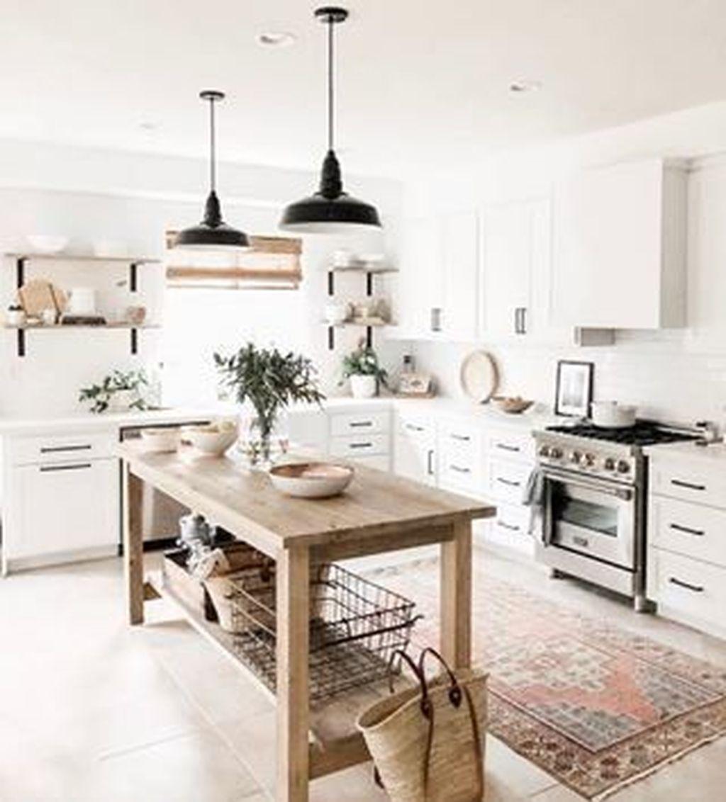 Stunning Modern Farmhouse Kitchen Table Design Ideas 10