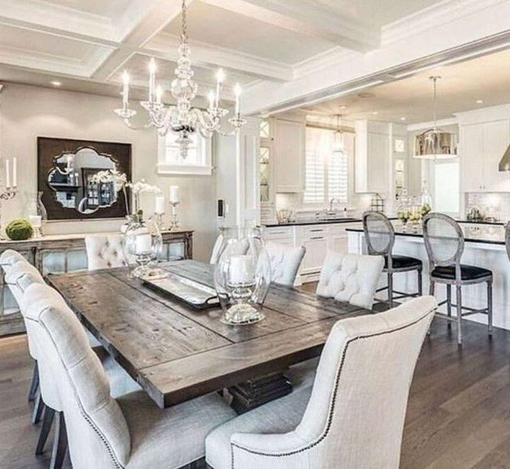 Stunning Modern Farmhouse Kitchen Table Design Ideas 14