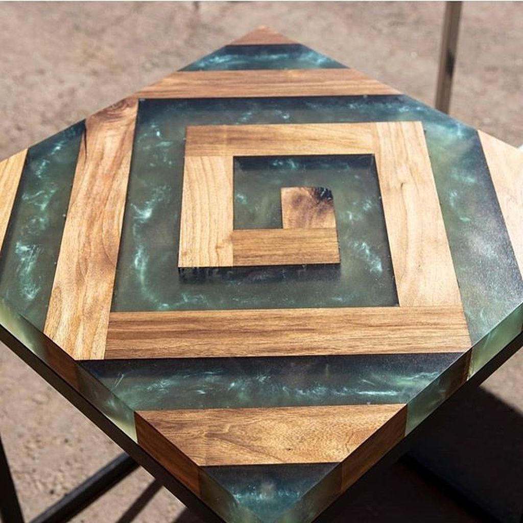Stunning Resin Wood Table Design Ideas You Will Love 05