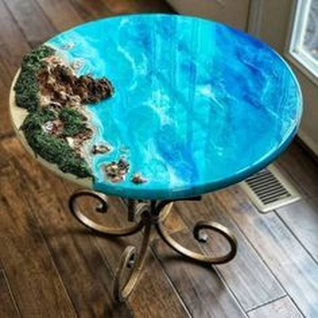 Stunning Resin Wood Table Design Ideas You Will Love 09