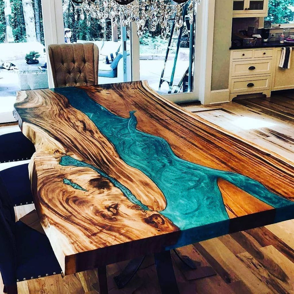 Stunning Resin Wood Table Design Ideas You Will Love 14