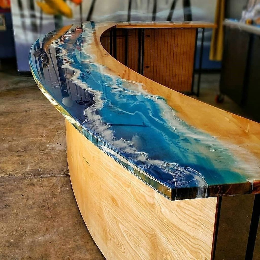Stunning Resin Wood Table Design Ideas You Will Love 15