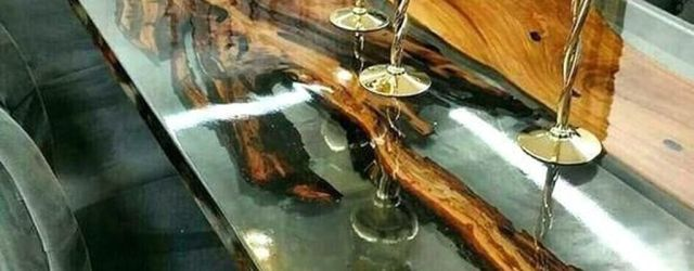 Stunning Resin Wood Table Design Ideas You Will Love 26