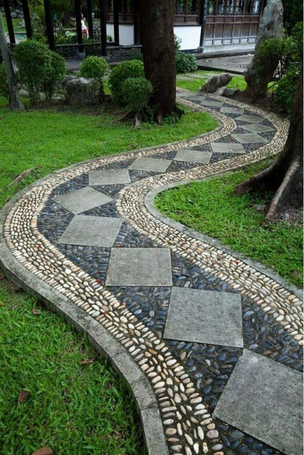 Stunning Stepping Stones Pathway Design Ideas 23