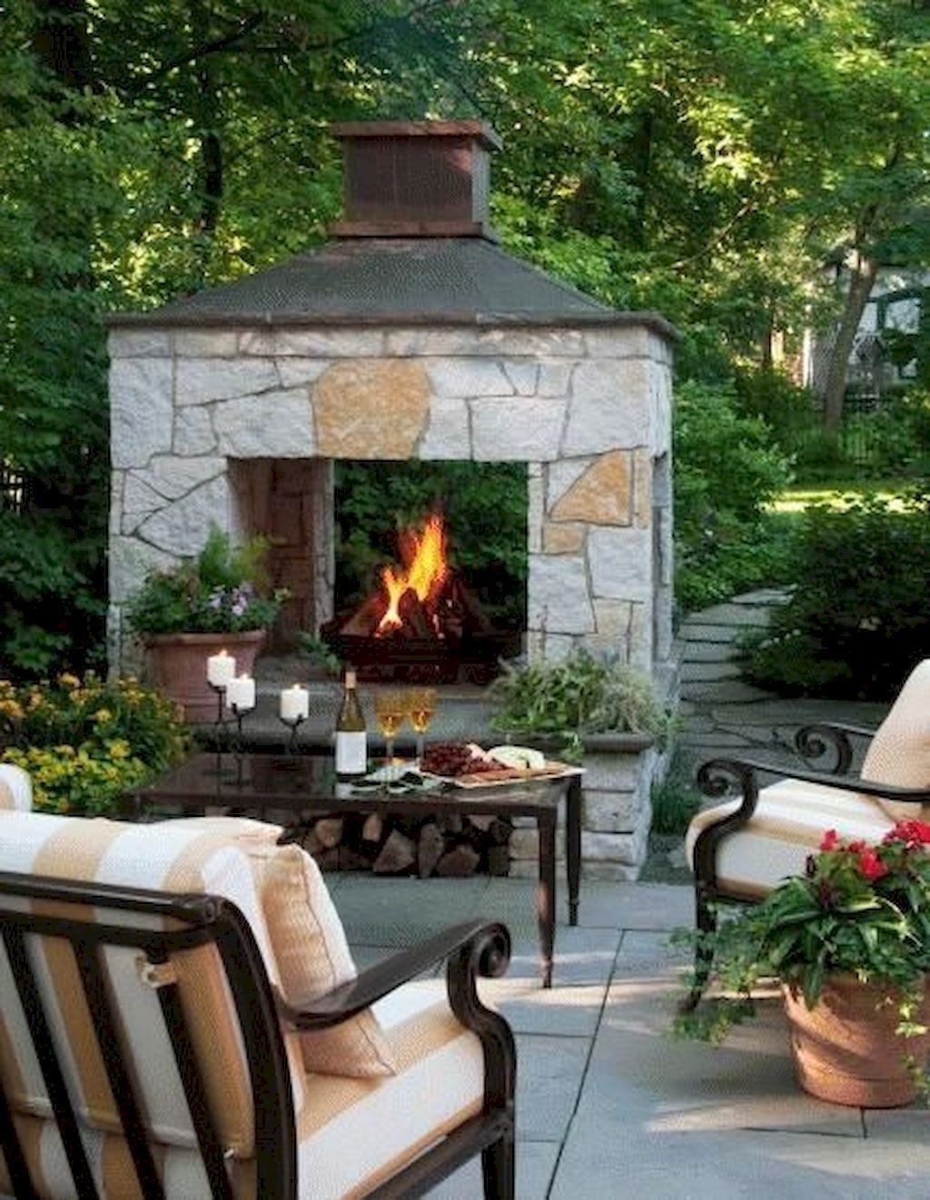 The Best Backyard Fireplace Design Ideas You Must Have 16