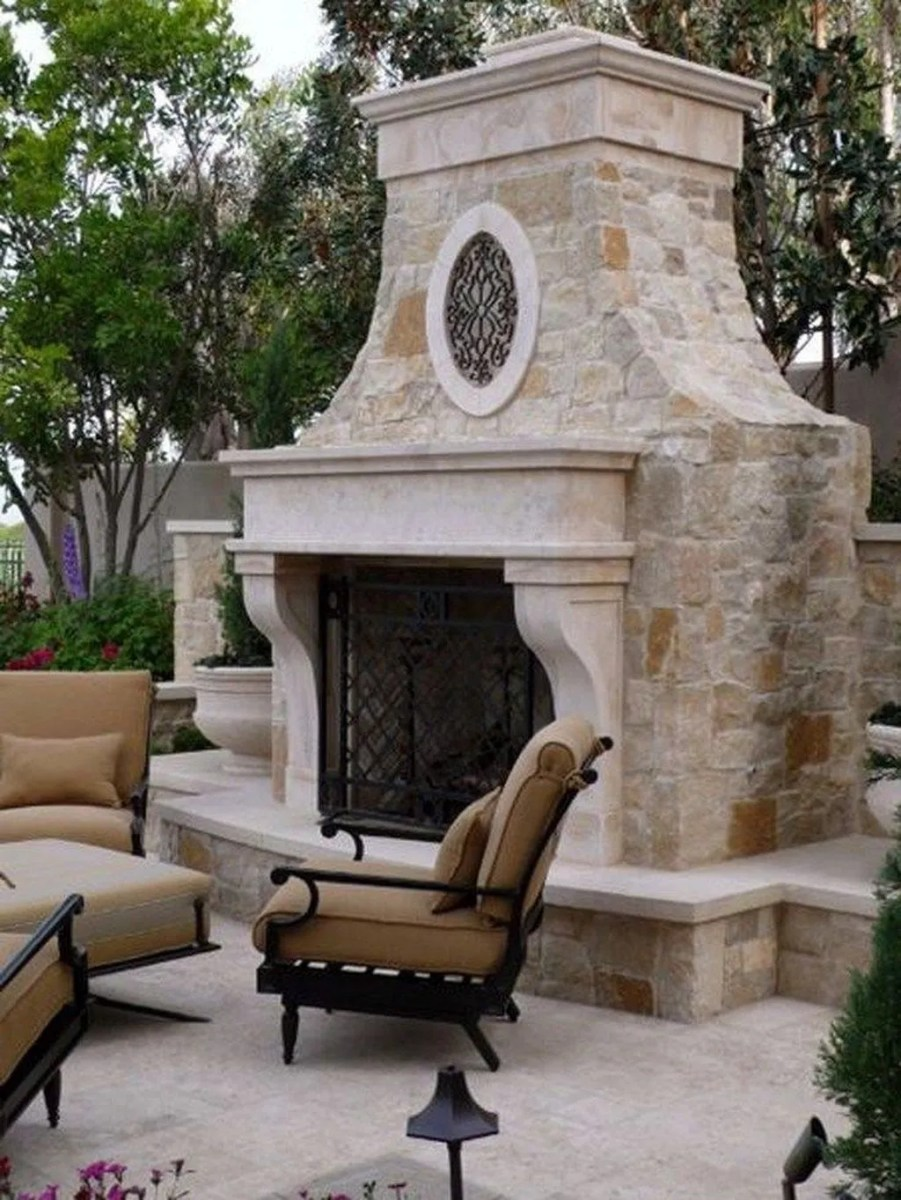 The Best Backyard Fireplace Design Ideas You Must Have 17