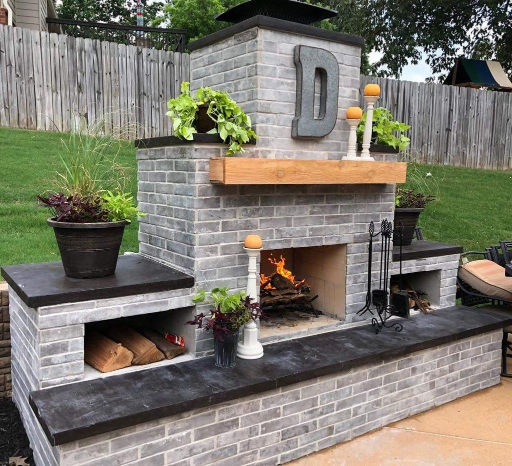 The Best Backyard Fireplace Design Ideas You Must Have 22