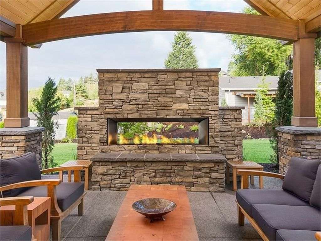 The Best Backyard Fireplace Design Ideas You Must Have 29