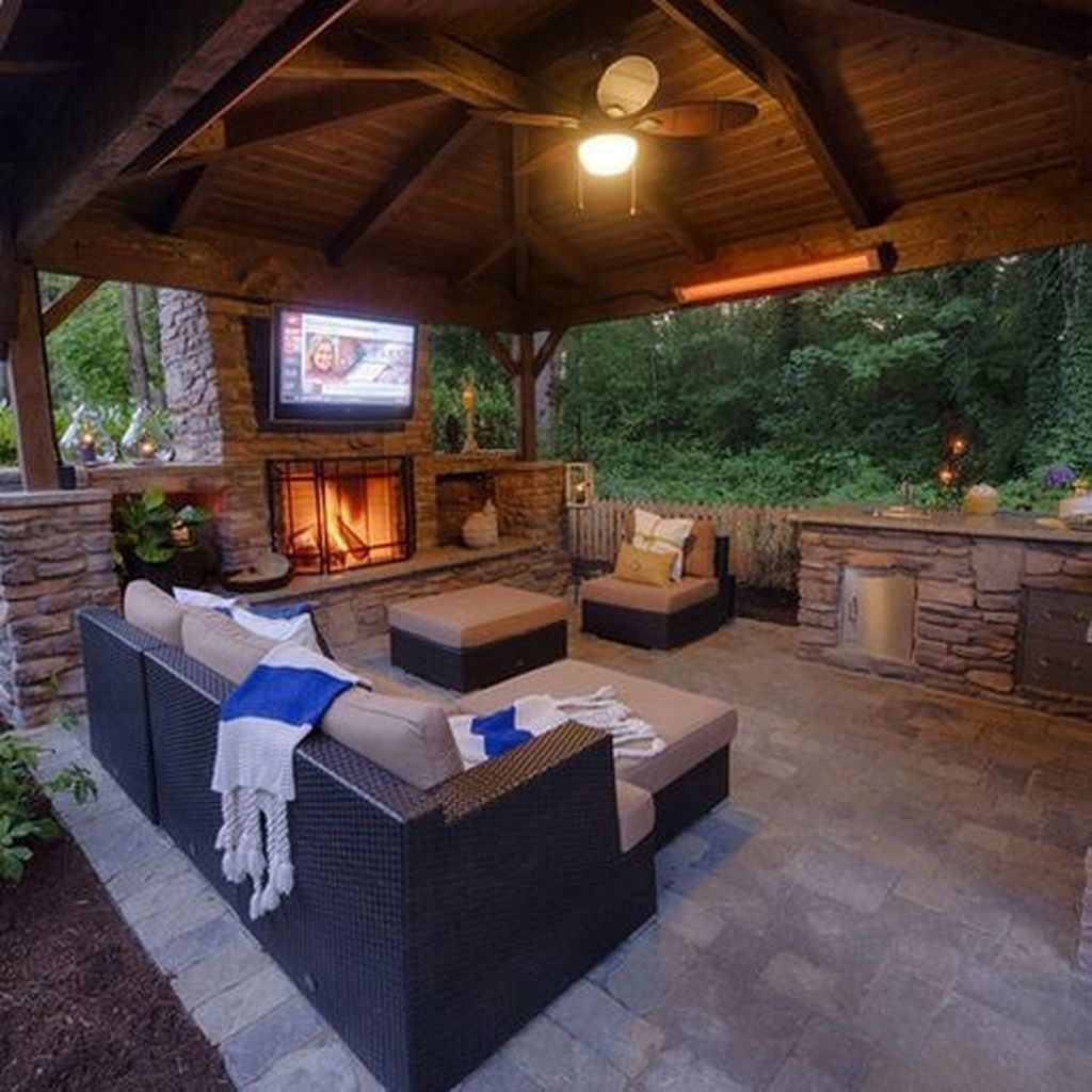 The Best Backyard Fireplace Design Ideas You Must Have 30