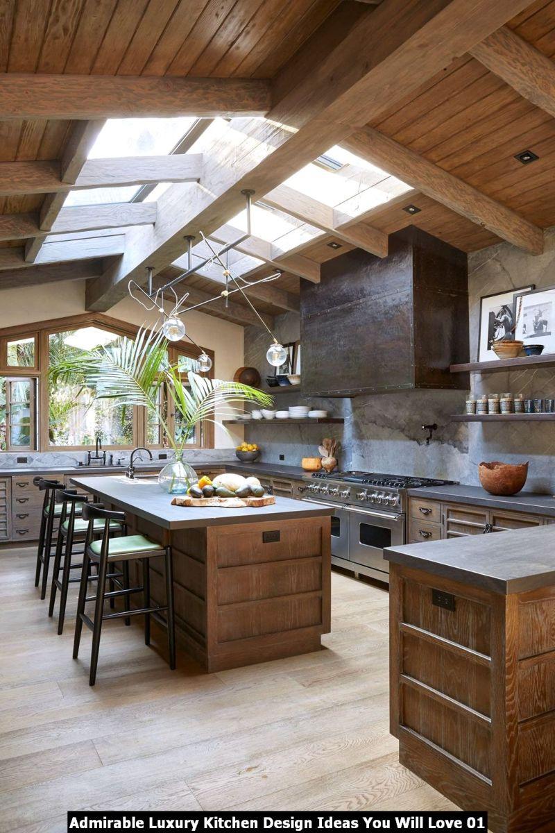 Admirable Luxury Kitchen Design Ideas You Will Love 01