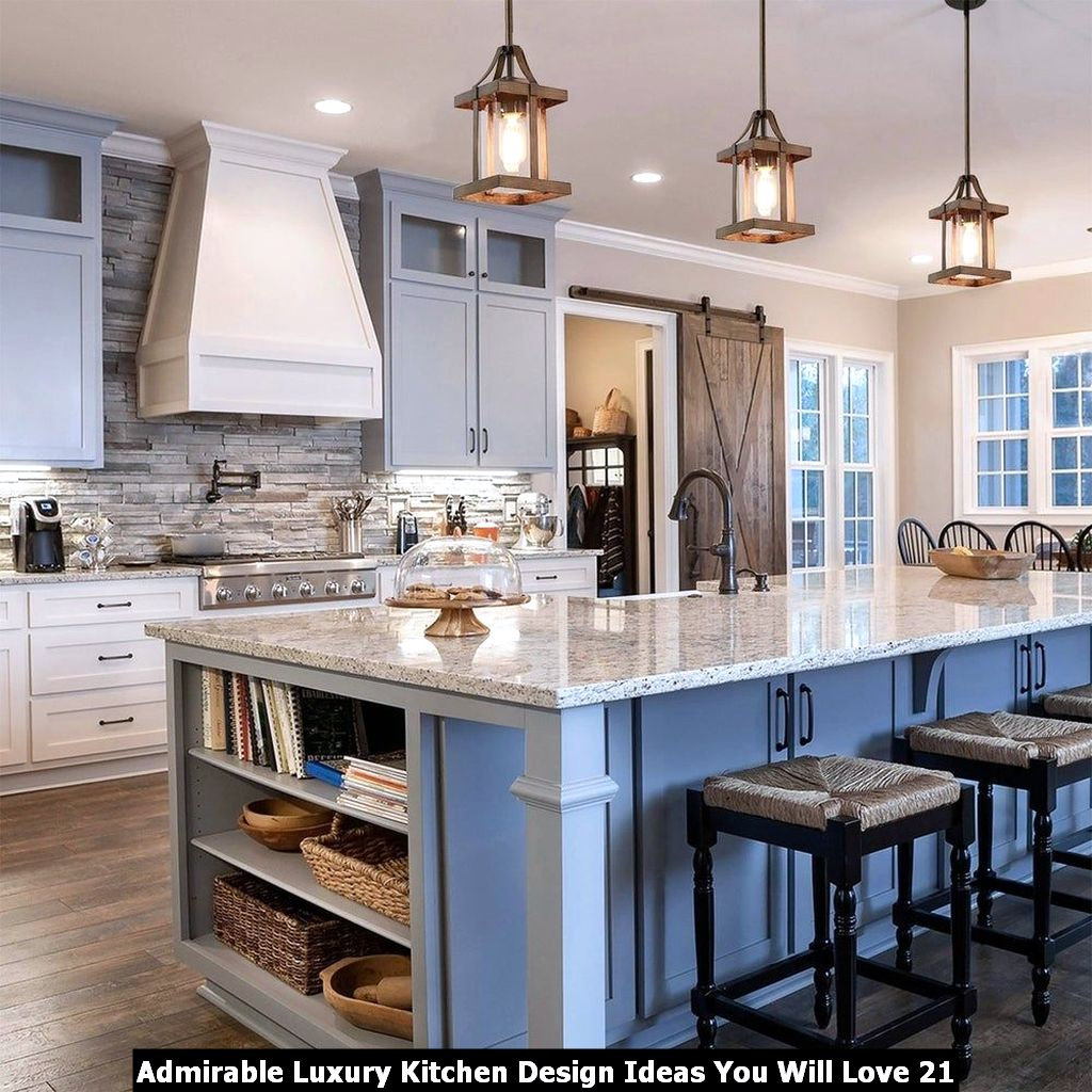 Admirable Luxury Kitchen Design Ideas You Will Love 21