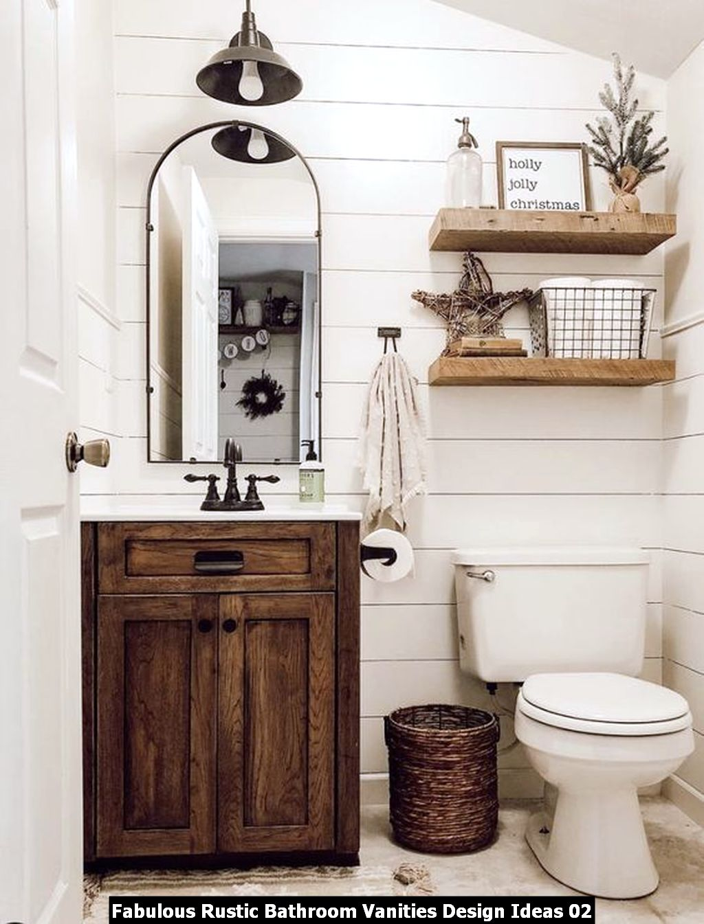 Fabulous Rustic Bathroom Vanities Design Ideas 02