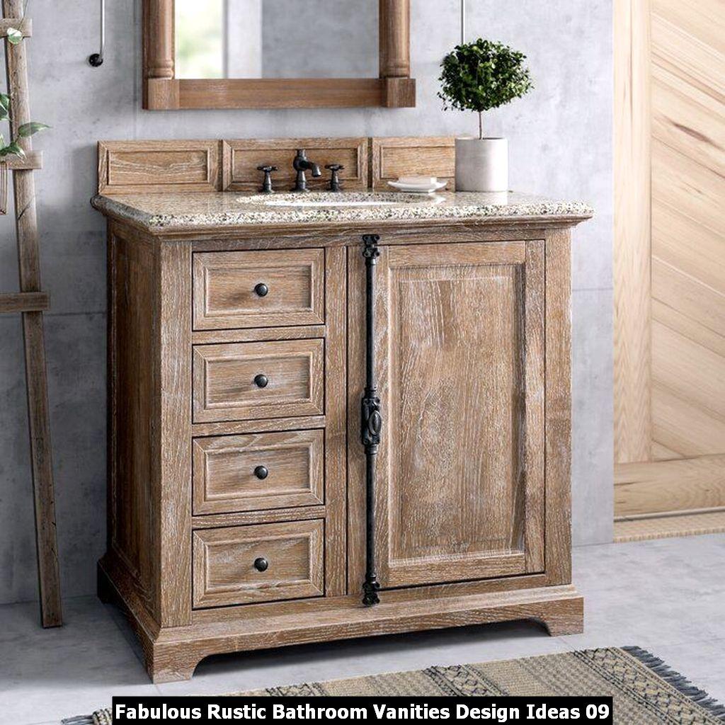 Fabulous Rustic Bathroom Vanities Design Ideas 09