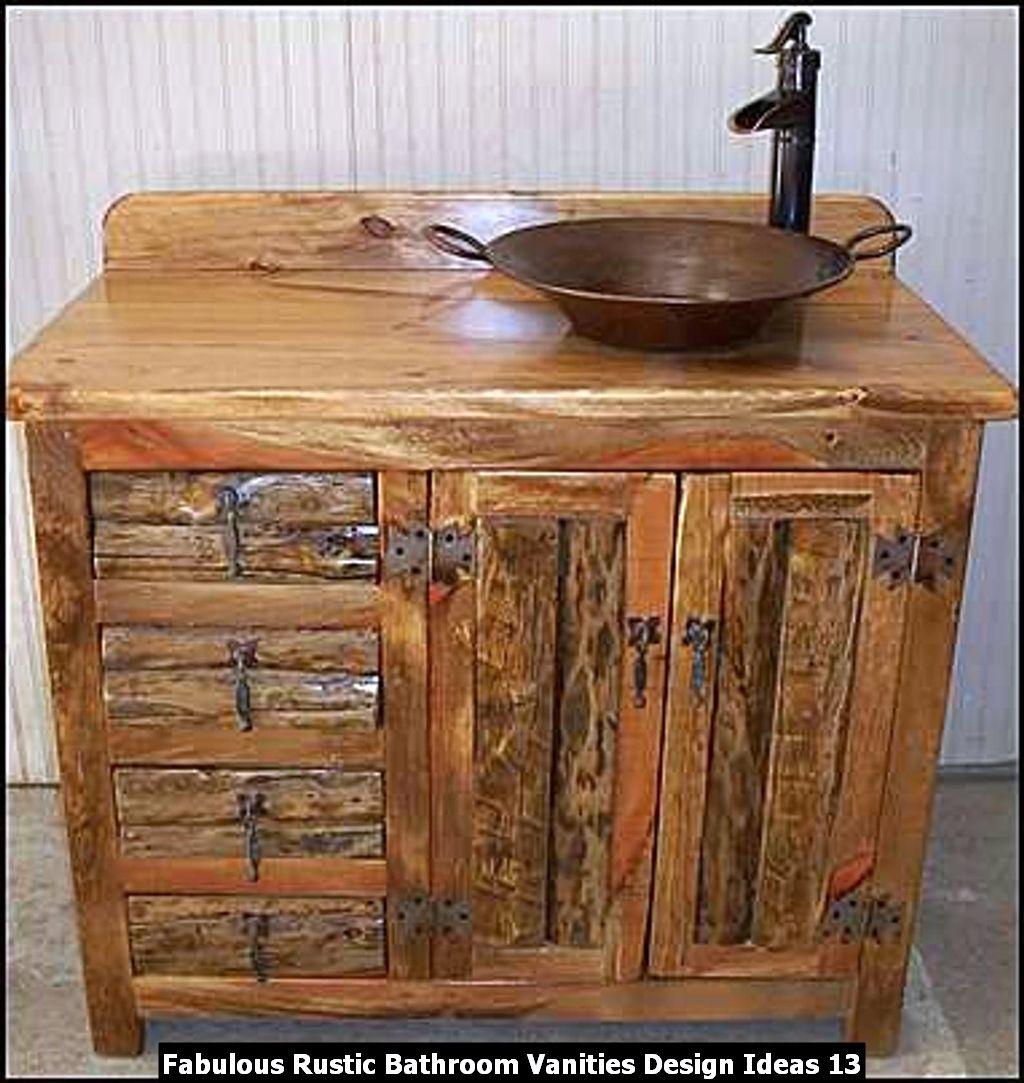 Fabulous Rustic Bathroom Vanities Design Ideas 13