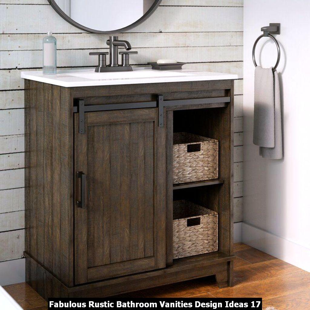 Fabulous Rustic Bathroom Vanities Design Ideas 17