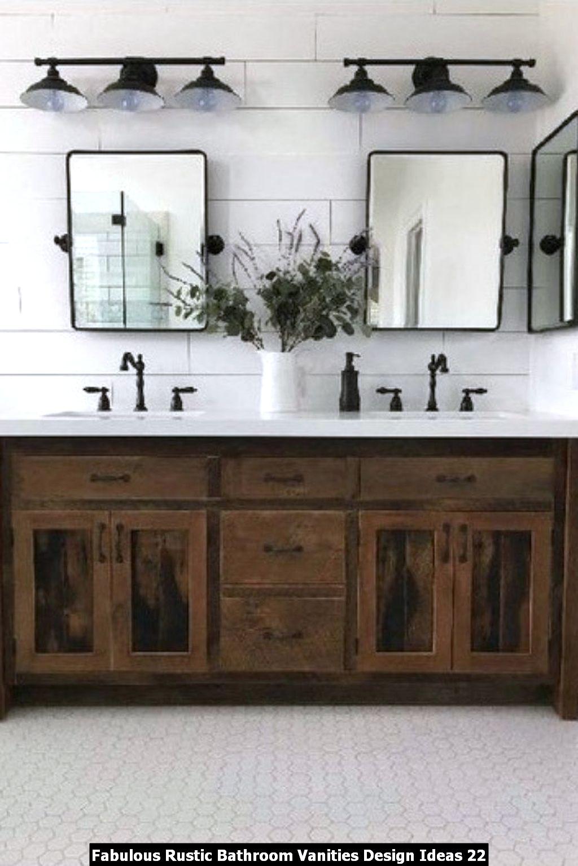 Fabulous Rustic Bathroom Vanities Design Ideas 22