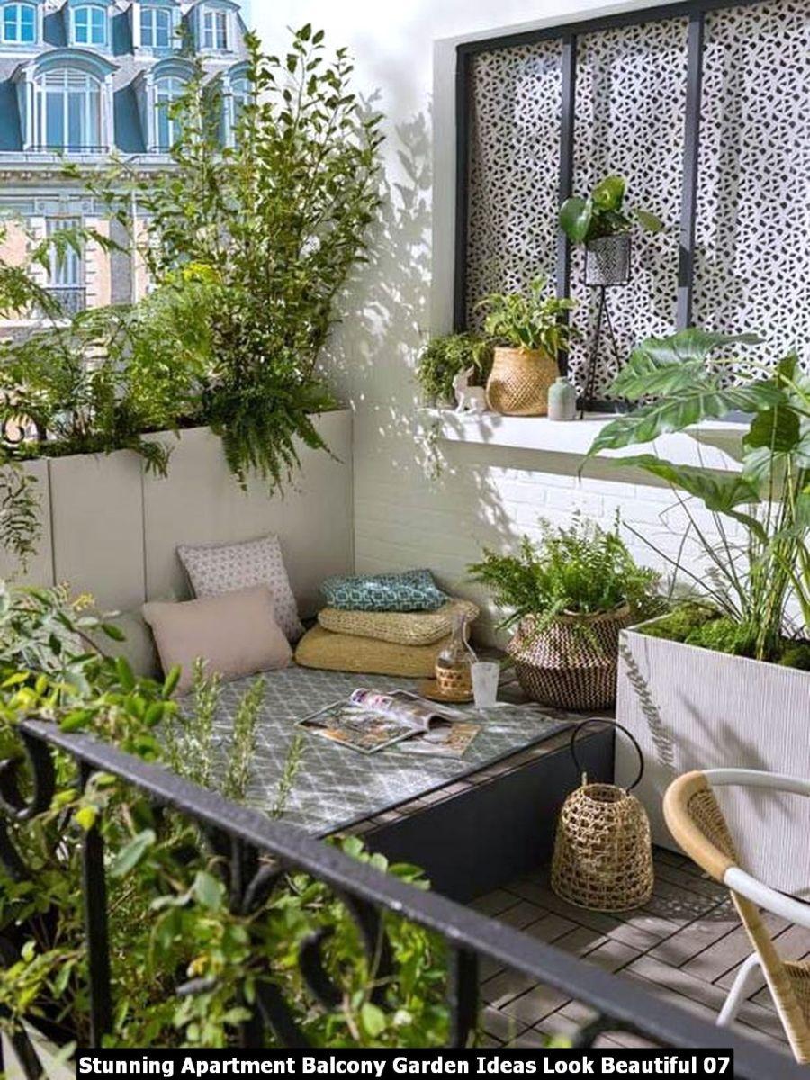 Stunning Apartment Balcony Garden Ideas Look Beautiful 07