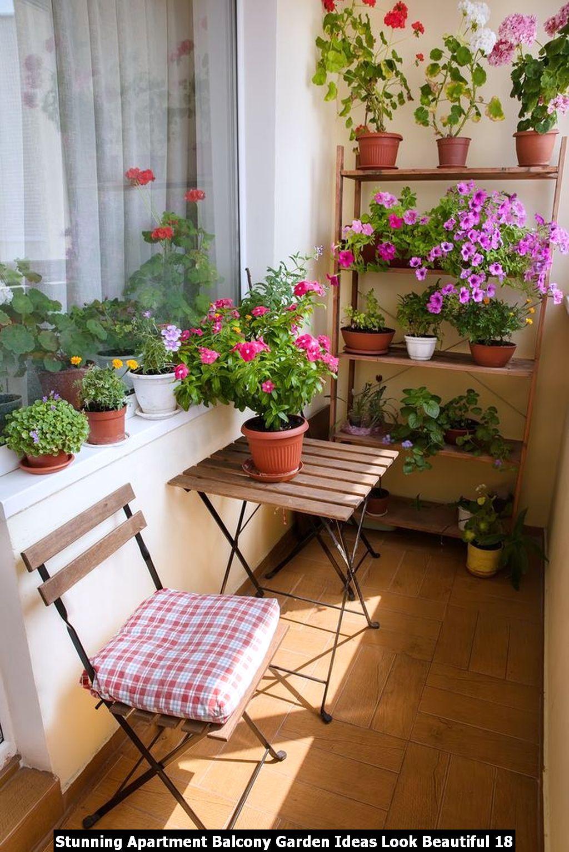Stunning Apartment Balcony Garden Ideas Look Beautiful 18