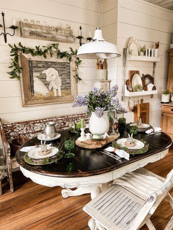 The Best Farmhouse Style Spring Tablescape Decor Ideas 12