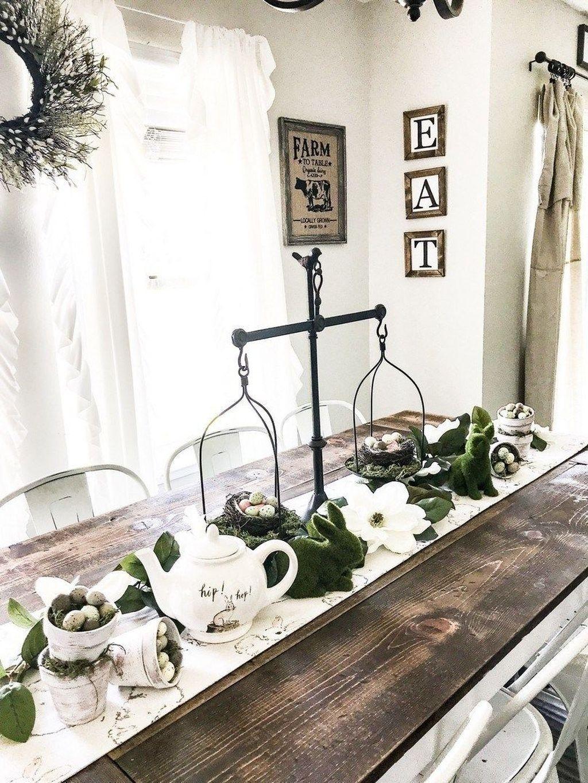 The Best Farmhouse Style Spring Tablescape Decor Ideas 32