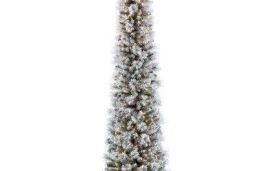 Pre Lit Pencil Christmas Tree