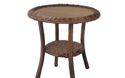 Outdoor Wicker Side Table