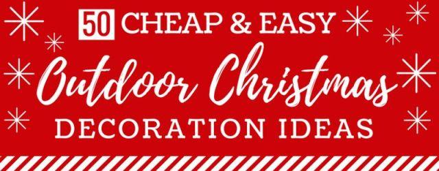 DIY Outdoor Christmas Decorations Ideas