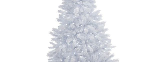 White Pre Lit Christmas Tree
