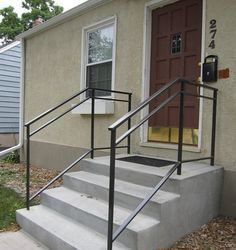 Metal Handrails For Outdoor Steps