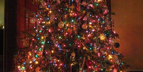 Christmas Tree With Colored Lights