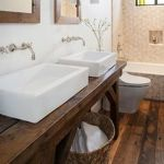 Rustic farmhouse style bathroom design ideas 35