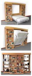 Saving space with creative folding bed ideas 40